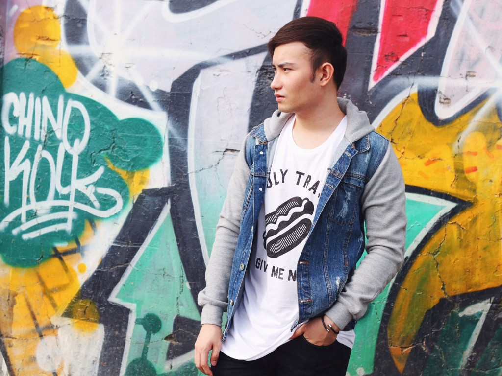 graffiti denim jacket cebu fashion philippines