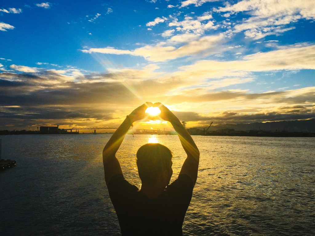 bridge cebu instagram sunset heart love