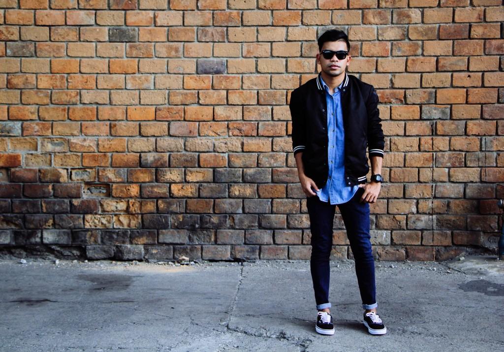 phi lip cebu style blogger denim black