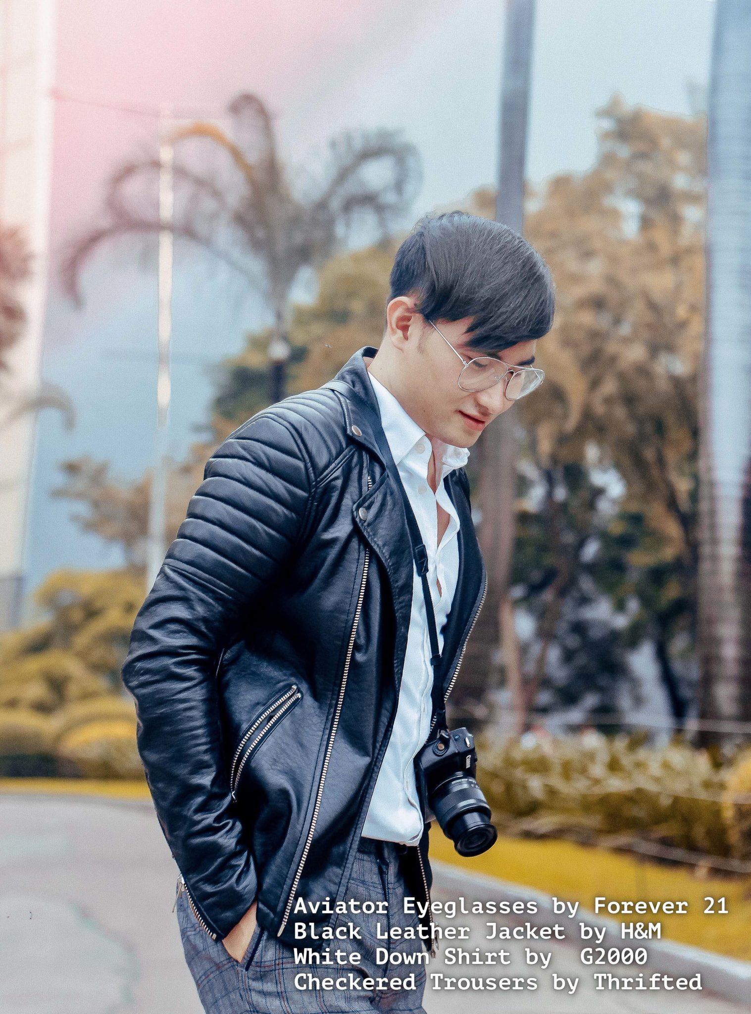 cebu fashion blogger men style man leather jacket