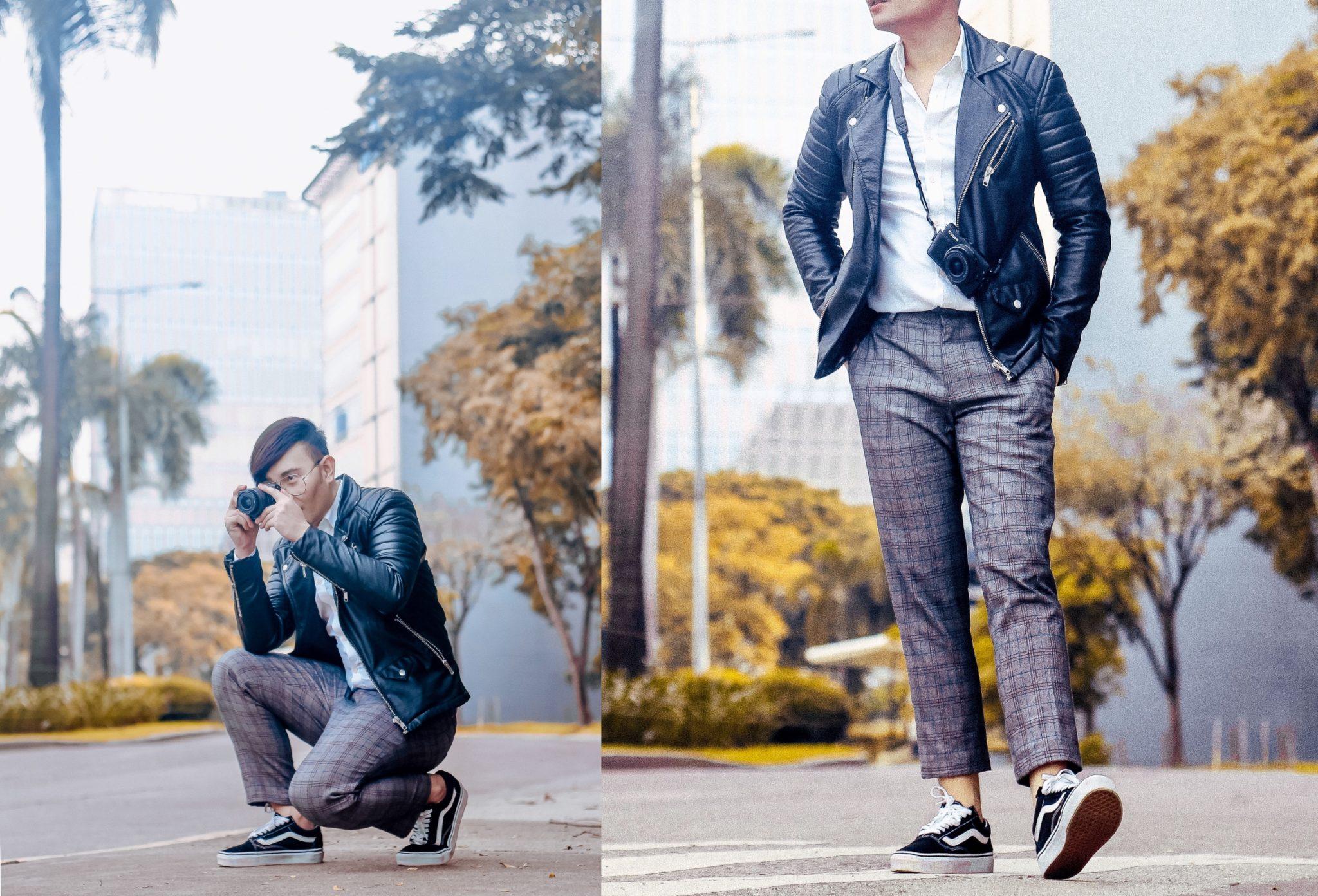 cebu fashion blogger men style man leather jacket ootd