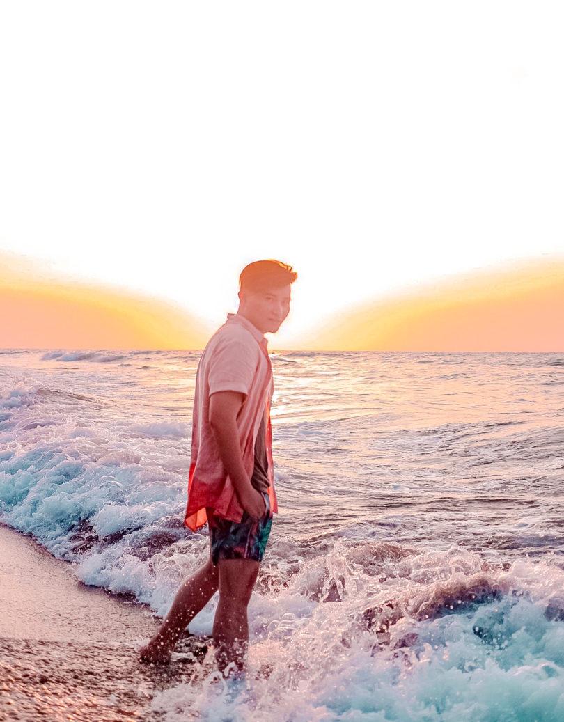lloyd chua san juan la union beach sunset blogger summer